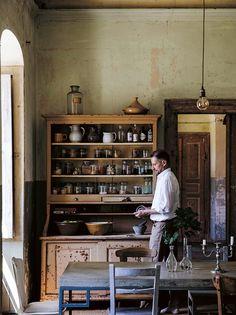 STILL - THE SLOW HOME BY NATALIE WALTON - Lobster and Swan Georgian Kitchen, Victorian Kitchen, Victorian House, Kitchen Styling, Kitchen Decor, Kitchen Living, Kitchen Storage, Kitchen Ideas, Unfitted Kitchen