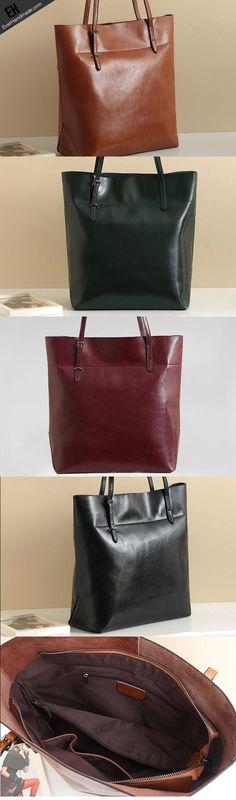 Handmade Leather tote bag shoulder bag red brown black for women leather shopper Shoulder bag