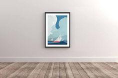 Ocean Sails Minimalist Poster Art Print Ready