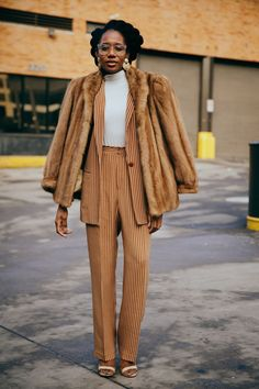 Not Even A Blizzard Could Stop New York Fashion Week Street Style+#refinery29 #womensnewfashionstyles