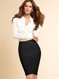 Basic Pencil Skirt - perfect pencil skirt for her figure. Be flattering and long enough for her