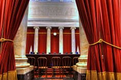Ionic Order inside the US Supreme Court, Washington, DC