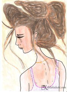 lola-kabuki-ilustracion- #love #art #watercolor #paintings #illustration