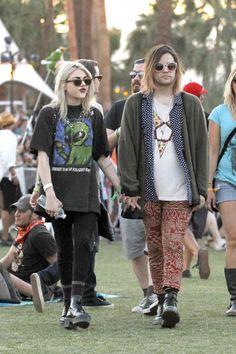 Frances Bean Cobain and fiance Isaiah Silva.