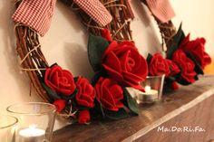 ghirlande con rose rosse