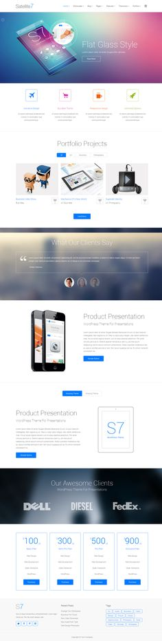 Satellite7 WordPress by WordPress Awards , via Behance