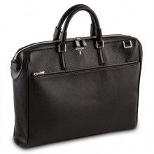 Serapian, briefcase 1 zip 6218 cervo nero
