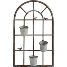 Bring sunny, cheery style to your favorite space our delightful metal planter. The window-shaped design and three little birdie silhouettes will work in harmony with your home decor.