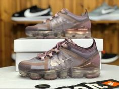 1ccf68b83 Nike Air VaporMax 2019 Plum Chalk   Mtlc Red Bronze AR6632-500 Women s  Running Shoes
