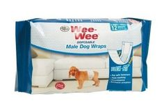 DOG HEALTH - HOUSEBREAKING - WEE WEE DISPOSABLE MALE FLEX FIT WRAP - X-SMALL/SMALL - 12CT - CENTRAL - FOUR PAWS PRODUCTS - UPC: 45663972264 - DEPT: DOG PRODUCTS