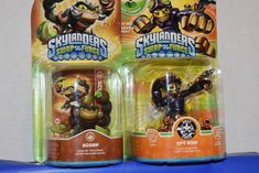2 Skylander Swap Force Characters Scorp y Spy Rise Awesome Games, Fun Games, Skylanders, Root Beer, Spy, Action Figures, Lego, Characters, Cool Games