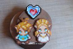 Breath Of The Wild Sprites - The Legend Of Zelda - Gifts for him - Zelda accesories - Hama Beads - Perler beads - Pixel The Legend Of Zelda, Melty Bead Patterns, Beading Patterns, Pearler Beads, Fuse Beads, Breath Of The Wild, 8 Bit, Pixel Art, Zelda Gifts