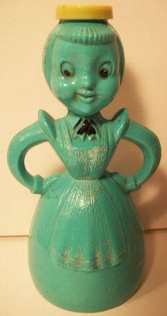 Turquoise Green Vintage Merry Maid Laundry Clothes Sprinkler- my Mom's was red