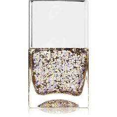 Nails inc Nail Polish - Exhibition Road (€19) ❤ liked on Polyvore featuring beauty products, nail care, nail polish, nails, beauty, makeup, esmalte, metallic, metallic purple nail polish and glitter nail polish
