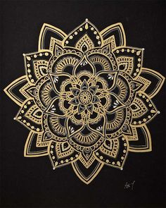 "Mandala-Kunst / Gold Mandala / Wandkunst / Blume Mandala / Meditation Symbol / handgefertigt … Mandala Art / Gold Mandala / Wall Art / Flower Mandala / Meditation Symbol / Handmade by Adi / "", Mini Mandala, Mandala Doodle, Mandala Drawing, Doodle Art, Mandala Symbols, Henna Mandala, Mandala Foot Tattoo, Indian Mandala, Arm Tattoo"