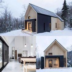 Ideas Exterior Brick House Colors Vinyl Siding For 2019 Exterior Paint Colors For House, Paint Colors For Home, Black Metal Roof, Black Wood, White Wood, Black White, White Trim, Villa, Exterior Design