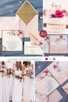 Get inspiration for DIY Wedding Invitations Ideas, choose your own design, then create it in your special day - Choose your favorite theme right here! Budget Wedding Invitations, Laser Cut Wedding Invitations, Wedding Invitation Design, Invitations Online, Wedding Stationery, Wedding Cards, Diy Wedding, Dream Wedding, Wedding Day