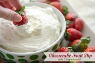 Best Cheesecake Dip: only 3 ingredients! This is so delicious!