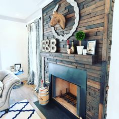 It's the perfect day to sit by the fire, and we absolutely LOVE this #bourbon stave fireplace we did for @ChateauBourbon in @NortonCommonsKY! Fun materials and unique construction can make their way into your next #MeridianConstruction home as well. Visit LouisvilleBuilder.com and let us build your dream home. #Louisville   #LouisvilleHomeBuilder #HomeBuildersLouisville #LouisvilleNewHomes #LouisvilleBuilders #Custom #HomeBuilderLouisville #LouisvilleCustomHomeBuilder #CustomHomeBuilder