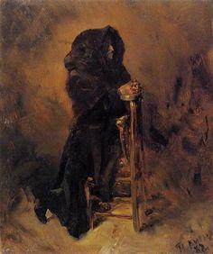 Woman in Prayer - Henri de Toulouse-Lautrec