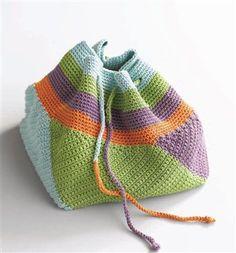 Crocheted Swirling Bag-free pattern