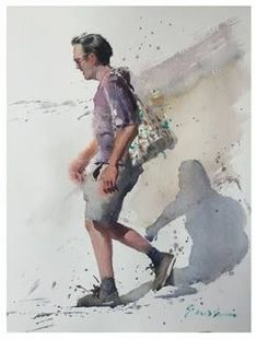 Eudes Correia: 2 тыс изображений найдено в Яндекс.Картинках Watercolor Illustration, Watercolor Paintings, Portrait Sketches, Projects To Try, Artist, Image, Colour, Watercolor, Color