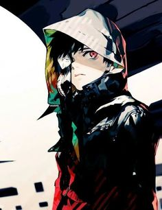 Anime | Boy | Badass | Tokyo Ghoul | Cute | Kawaii | Kaneki Ken | Red eye