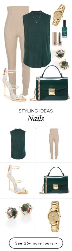 """A Quickie...hmph :/"" by perichaze on Polyvore featuring Balmain, Ippolita, Giuseppe Zanotti, Gucci, Michelle Campbell Jewelry, Azature and Marc Jacobs"
