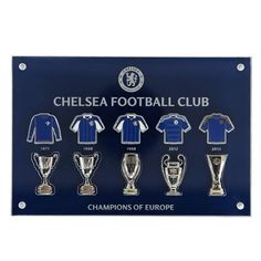 Chelsea Champions Of Europe Pin Badge Collector Set in Acrylic Case Online  Shopping 34b00f287