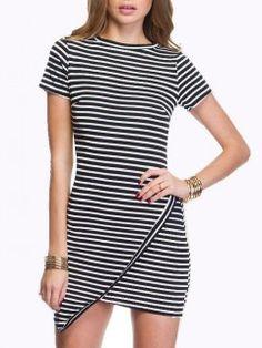 Shop Choies Design Black Stripe Bodycon Dress from choies.com .Free shipping Worldwide.$13.9