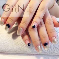 Woohoo it's Friday #gelish #shellac #navy #shiny #nail #nails #nailart #nailpolish #naildesign #nailswag #manicure #fashion #beauty #nailstagram #nailsalon #instanails #nails2inspire #love #ネイル #art #beautiful #gelnail #gelnails #polish #style #gel #naildesigns #instanail #girl