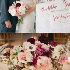 Marsala & Blush Wedding Spring Palette