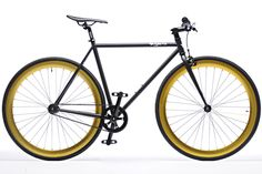 Pure Fix Cycles -- Black and Gold Fixie $325
