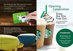 15-17 Mar 2016: Starbucks Buy 1 FREE 1 Promotion