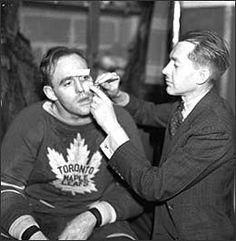 King Clancy getting some repairs | Toronto Maple Leafs | NHL | Hockey