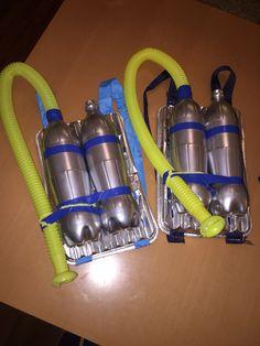 Selber basteln Astronaut Sauerstoffflasche