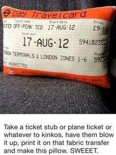 Sweet! Kinkos to preserve memories..maybe honeymoon ticket!?