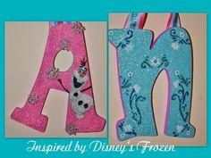 glitter #disney's frozen letters hanging wood sorority nursery monogram kids from $15.99