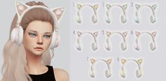 Sims 4 Updates: Kalewa-a - Accessories, Headwear : Limited Ariana Kitty Headphones, Custom Content Download!