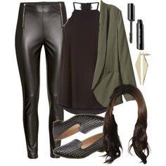 Spencer Hastings inspired outfit by liarsstyle on Polyvore featuring H&M, Kenneth Cole Reaction, Topshop, NightOut, date, weekend and mid