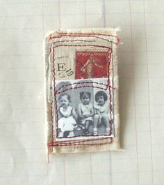 vintage style, textile brooch