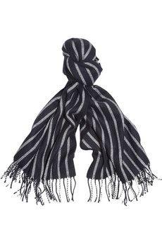 J.Crew Striped woven scarf | NET-A-PORTER