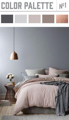 Ein Hubsches Blau Grau Als Wandfarbe Im Schlafzimmer Www Kolorat De