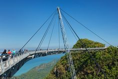 Completed in 2004, the Langkawi Sky Bridge is built on top of the Machinchang…