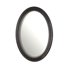 $29.99 Distressed Black Oval Mirror, 21x31 | Kirklandu0027s