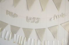 I love this pop fizz clink garland! And I love that there's a free file that you can download and cut yourself. A Cricut makes this super quick too