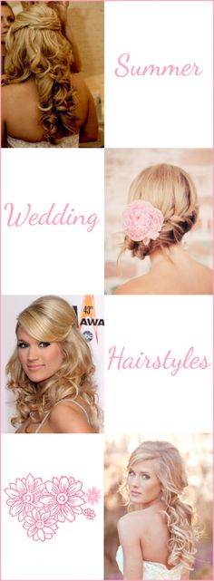 Summer Wedding Hairstyles (Do you want to design your own Wedding and Engagement Rings? Call us at 866.300.4140 or visit us at www.brilliance.com)