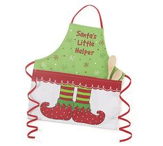 Child Apron Santa's Little Helper Elf Feet Christmas Holiday Gift Baking Cooking | eBay