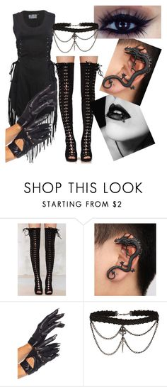 """""""All Black- tag"""" by kiaraloops ❤ liked on Polyvore featuring Jeffrey Campbell"""