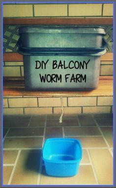 DIY Balcony Portable Worm Farm